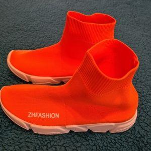 Unisex Shoe Sock EU 36 Orange Hip hop Shoes | Anime Boots Shoes | Driving Shoes